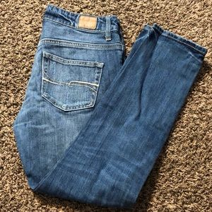 Forever 21 jeans distressed blue denim size 25